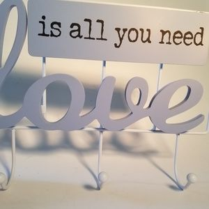 Wall hook Love is all you need 3pire hook plaque